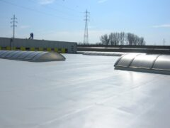 waterproofing flat roof with TPO